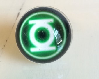 Green Lantern Ring - Green Lantern - Ring - Green Lantern Jewelry - Huge Ring
