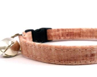 Cat Collar, Small Dog Collar, Dirty Pink