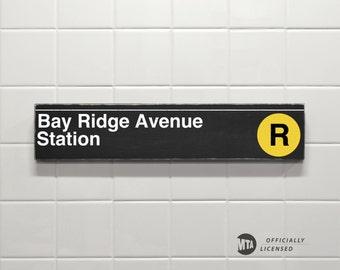 Bay Ridge Avenue Station - New York City Subway Sign - Wood Sign
