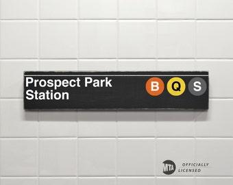 Prospect Park Station - New York City Subway Sign - Wood Sign