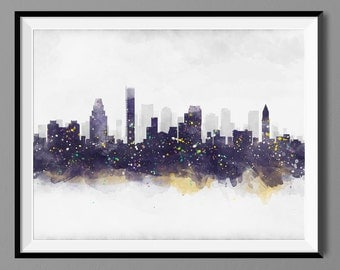 Boston MA Skyline - Boston Massachusetts - Cityscape Wall Art Print Poster