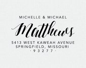 Personalized Address Stamp, Self-Ink Address Stamp, Bridal Shower Gift, Housewarming Gift, Return Address Stamp, Simple, Calligraphy (T276)