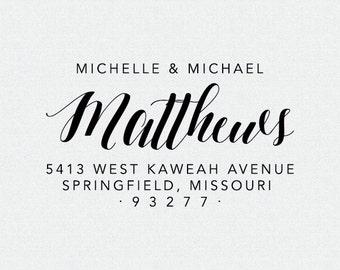 Personalized Address Stamp, Self-Ink Address Stamp, Bridal Shower Gift, Housewarming Gift, Return Address Stamp, Wedding Stamp (T276)