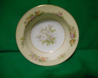 "One (1), 5 3/8"" Porcelain, Fruit / Dessert (sauce) Bowl, from Noritake (Occupied Japan) in the Empire Pattern."