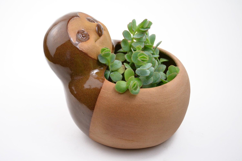 Cute Sloth Planter Ceramic Planter Animal Planter By