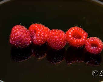 Raspberries, fine art print, landscape photography, kitchen, fruit, berries, red berries, kitchen decor, art