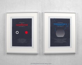 Terminator ~ Minimal Movie Posters, Retro Minimalist Art Prints by Christopher Conner