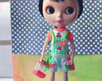 Dollypie fluorescent colored cherry set A  for Blythe 5 Items