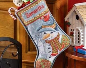 Have your Christmas stockings cross stitched and customized!