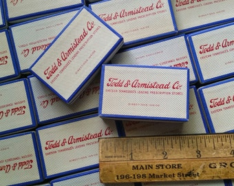 12 Vintage 1950's NOS Pharmacy Prescription Boxes | Unused Lot | Eastern Tennessee Drugstore