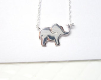 Sterling silver Elephant Necklace, Good luck Charm , 925 Romantic Lucky  Pendant
