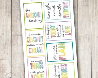 Rainbow Motivational Quotes, Set of 7