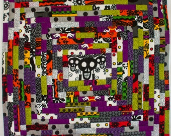No. 13, Day of the Dead Miniature String Quilt