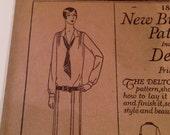 Vintage 1920s Butterick Dress Pattern - factory folds