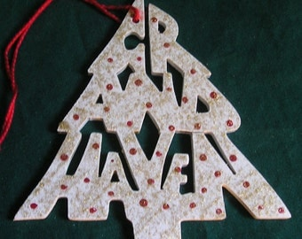 Grand Haven, handcrafted tree ornament
