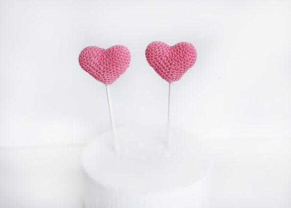 Cake Decor Hearts : Items similar to Hearts cake topper, Hearts, Baby shower ...