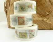 Nature Postage Stamps Collection Washi Tape - 1609