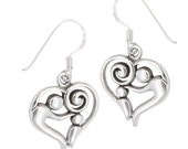 Sathya Sai Baba, Parent/Child Sterling Silver Heart earrings