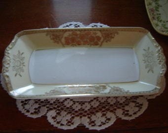 Vintage vanity tray dresser tray antique china collectible jewelry tray perfume tray wedding table decor centerpiece tray