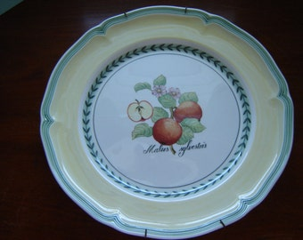 Wall plate replacement plate kitchen decor Villeroy and Boch French Garden Valence cake plate wedding decor serving