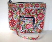Vintage Vera Bradley Large shoulder tote, French Country fabric handbag,  Women's Accessory, gift idea
