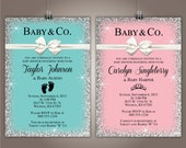 Baby & Co. Baby Shower Invitation, Breakfast and Tiffanys, 5x7 Girl or Boy Version