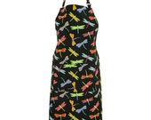 Dragonfly Delight Apron   --  100% Cotton Twill with adjustable straps & two front pockets