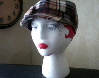 Tan Plaid Cap