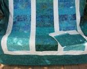Reserved for Brooke - King Quilt - Queen Quilt - True Blue Batik