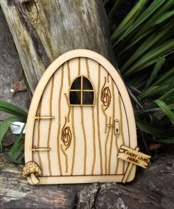 Free fairy doors 10 2 unpainted laser cut mdf for Unfinished fairy door