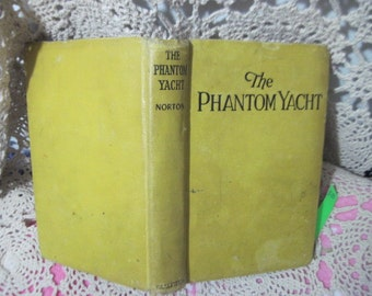 The Phantom Yacht 1928 has wear to it ,Vintage Book,Antique Book, Vintage Book, Antique Book, Old Book, Vintage Home Decor, :)s
