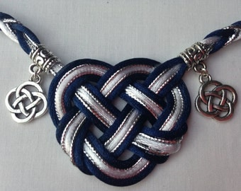 Zoei's Charmed Life Handfasting Cord (5 cords, 3 satin, 2 metallic plus 6 charms)