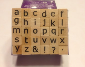 small alphabet stamp set, 9 mm (SB3)