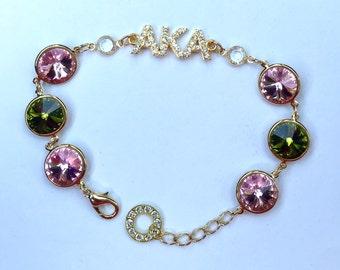 Sorority Bracelet (Light Rose & Olivine)