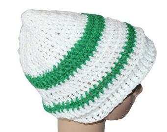 Womens Slouch Hat, Knit Winter hat, Dread Cap, Slouch Cap, Winter Rasta, Autumn Fashion Hat, Man Winter Hat, Green Snow Hat,