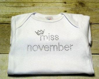 Miss November short sleeve *newborn* Ready to Ship