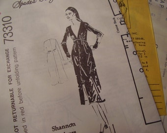 Vintage 1970's Spadea 73310 Shannon Rodgers for Jerry Silverman Dress Sewing Pattern, Size 14, Bust 36