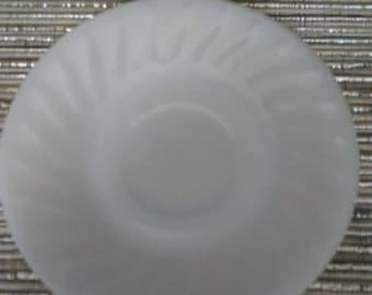 Vintage Fire King Ivory Swirl Saucer