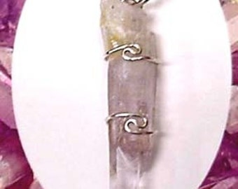 Vera Cruz Amethyst Pendant with sterling silver wire