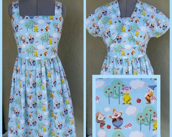 1950s Sundress Reproduction- Handmade to order- Custom to your size and your fabric choice- XS-XL sz- VLV