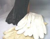3 Pairs of Vintage Small Ladies Gloves - Leather 1950s