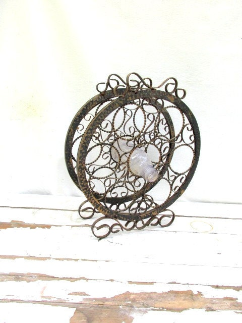 Sale vintage wrought iron standing wine rack - Wine racks wrought iron floor standing ...