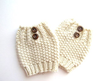 SALE Knit Boot Cuffs Buttonned Boot Topper Socks with Button Knit Fall Winter Spring Accessories Womens Girls