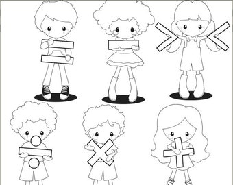 Math Clipart -Personal and Limited Commercial Use- back to school clip art