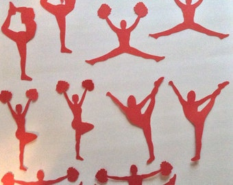 Cheerleader/ team die cuts