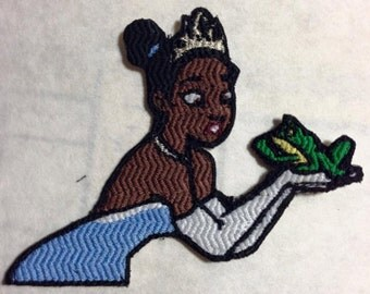 Iron On Patch Inspired Fan Art Tiana from Princess and the Frog