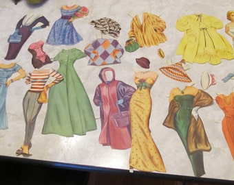 Vintage Grace Kelly Paper Doll Set, 1952 - original - added bonus