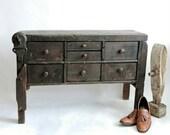 Industrial Cobbler's Workbench from Massachusetts. circa 1910. Handmade Antique