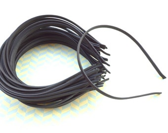 30 pcs Black Cloth Covered Headband 5mm Wide