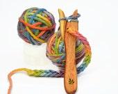 Knitting Fork - Wooden lucet KIT Christmas crafts for kids Beginner knitting for children! An easy & fun craft idea. Waldorf craft Australia